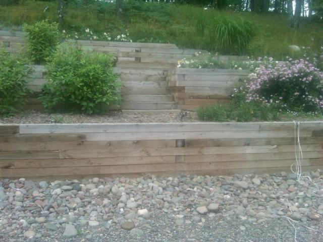 Treated Timber Retaining Wall 4 Rick Gruel Landscaping